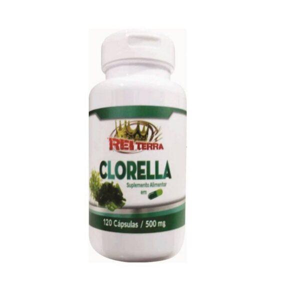 Clorella 500mg 120 Cápsulas - Rei Terra