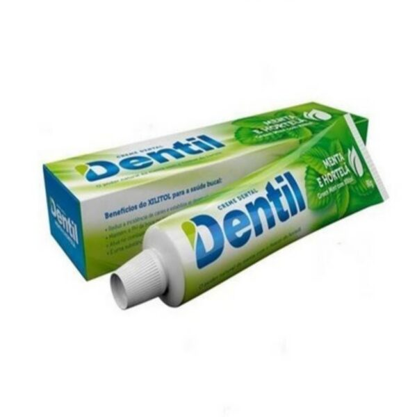 Creme Dental s/Fluor Menta e Hortelã c/ Xilitol 90grs